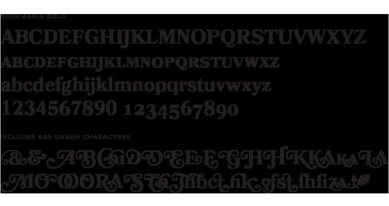 Bookmania type specimen dissolve 1