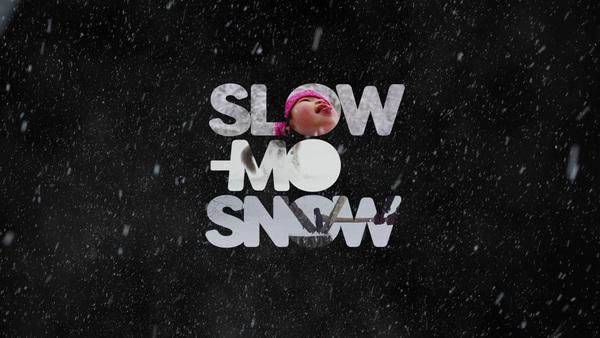 Slow-mo snow